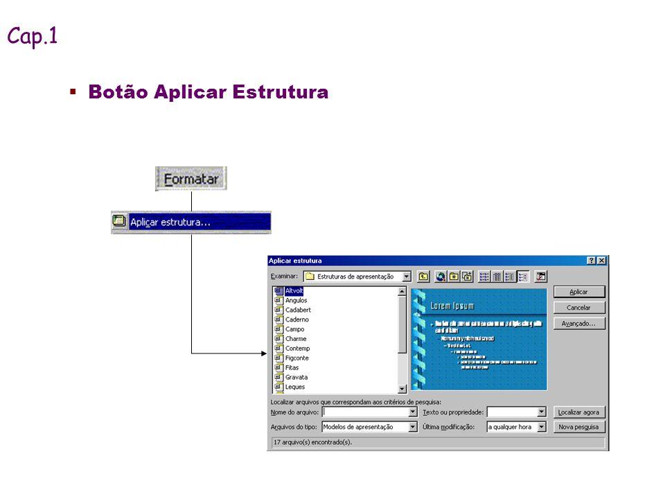 Cap.1 Botão Aplicar Estrutura