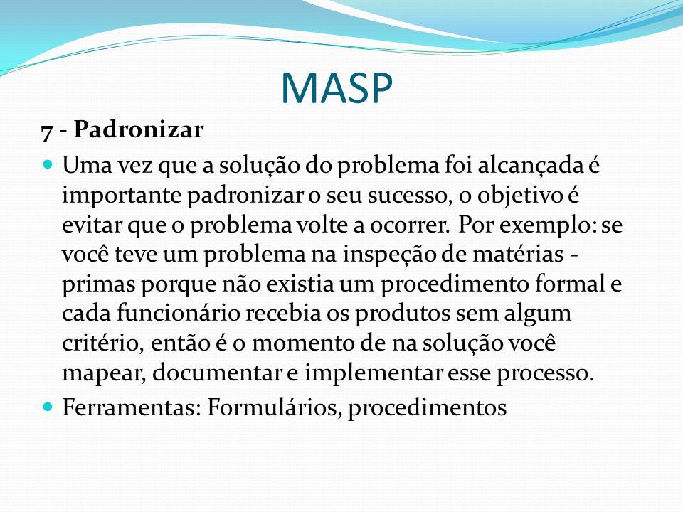 MASP 7 - Padronizar.