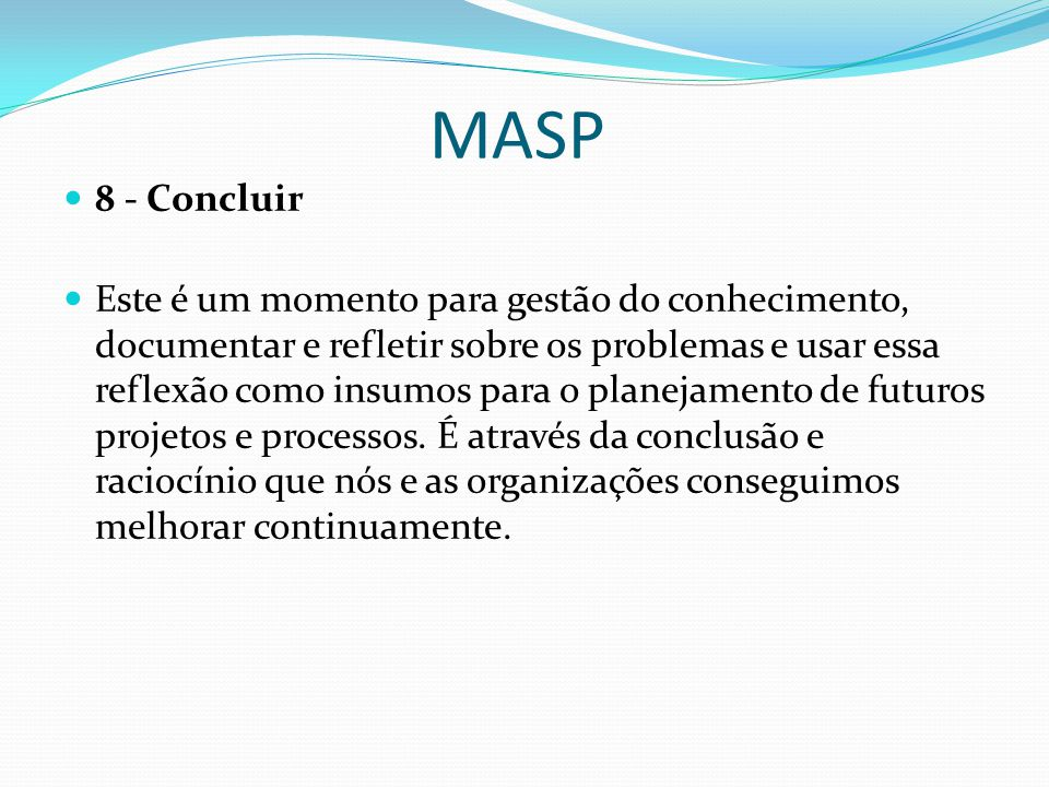 MASP 8 - Concluir.
