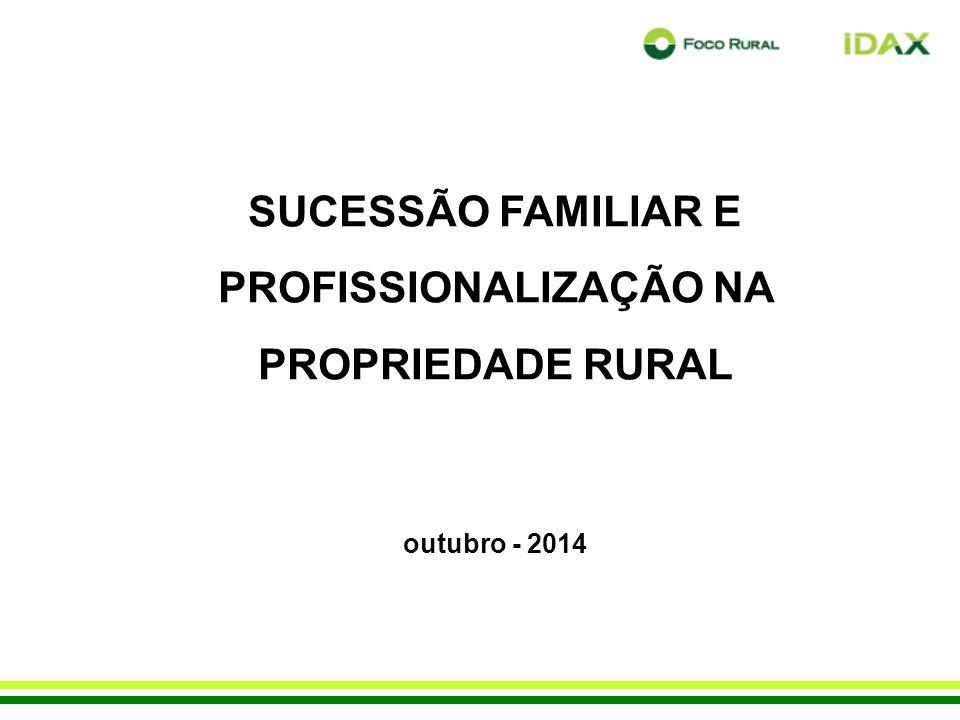 SUCESSÃO FAMILIAR E PROFISSIONALIZAÇÃO NA PROPRIEDADE RURAL