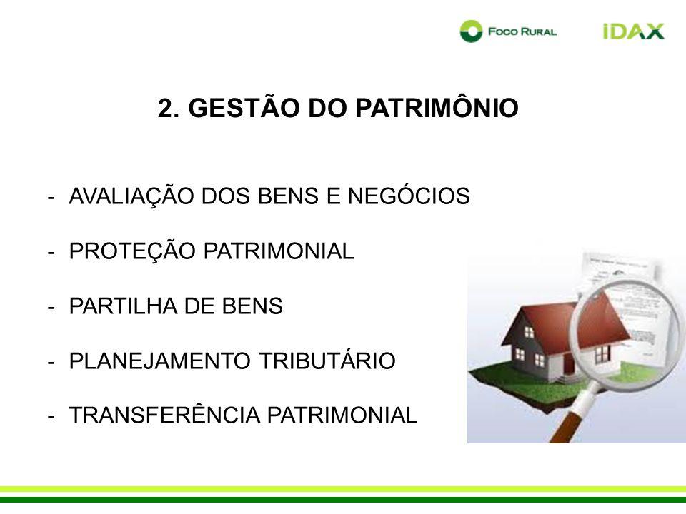 2. GESTÃO DO PATRIMÔNIO AVALIAÇÃO DOS BENS E NEGÓCIOS