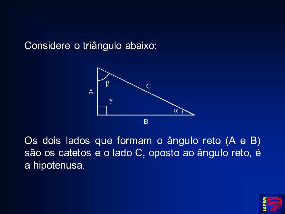 Considere o triângulo abaixo:
