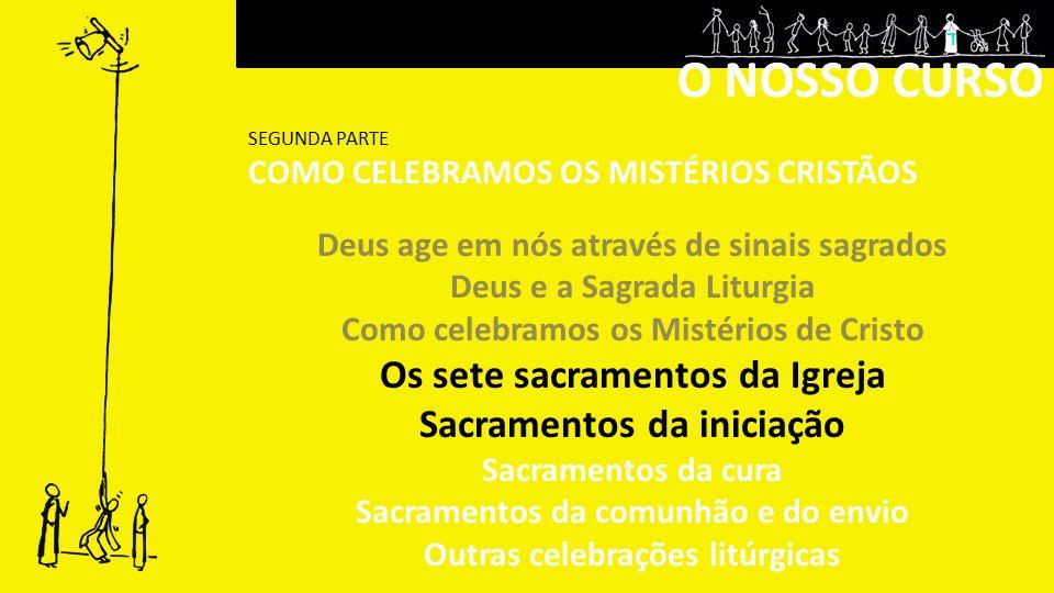 O NOSSO CURSO O NOSSO CURSO Os sete sacramentos da Igreja