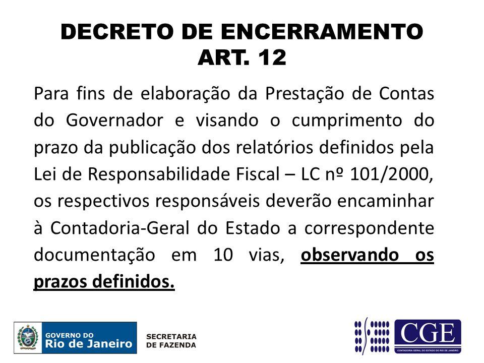 DECRETO DE ENCERRAMENTO ART. 12