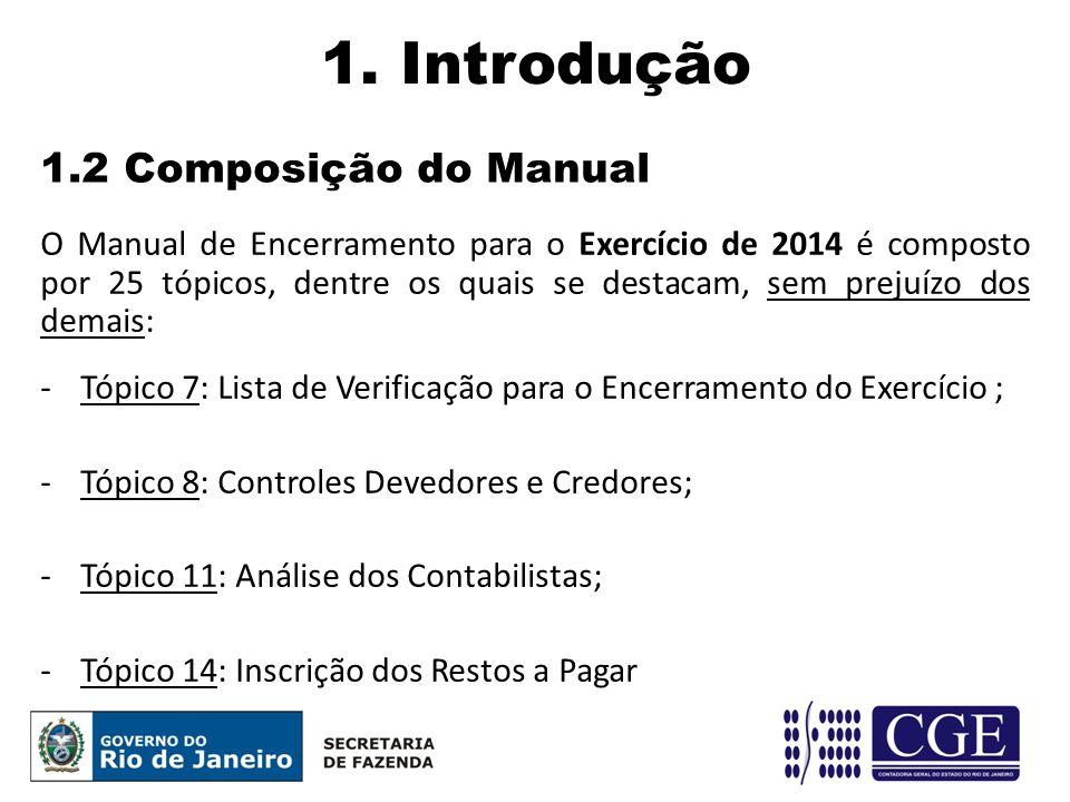 1. Introdução 1.2 Composição do Manual