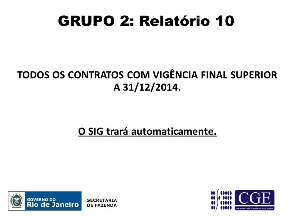 GRUPO 2: Relatório 10 TODOS OS CONTRATOS COM VIGÊNCIA FINAL SUPERIOR A 31/12/2014.