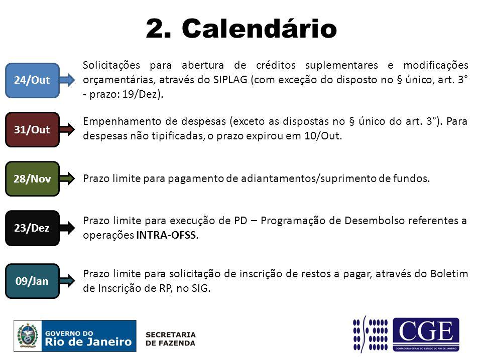 2. Calendário