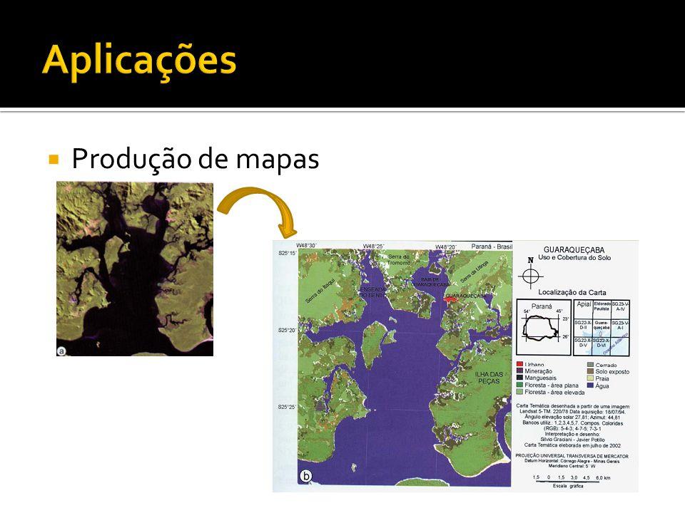 Aplicações Produção de mapas