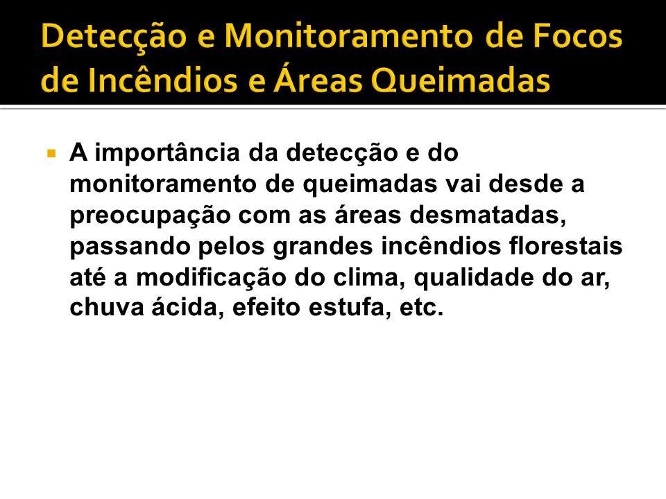 Detecção e Monitoramento de Focos de Incêndios e Áreas Queimadas