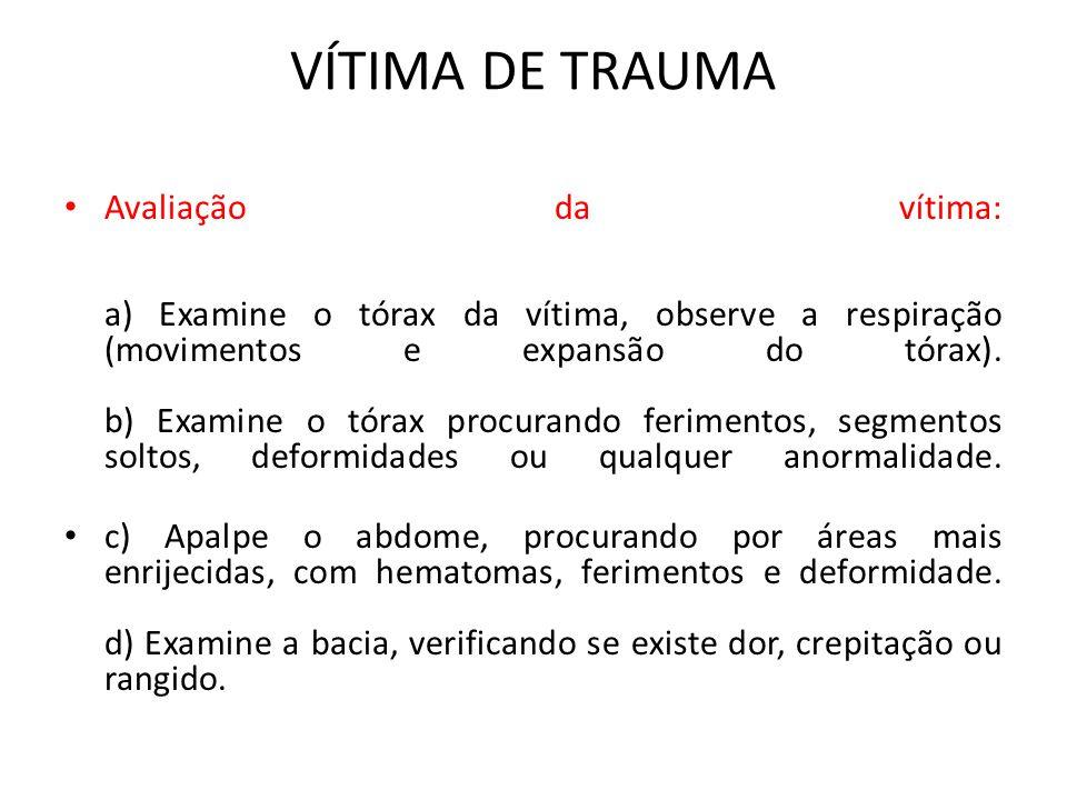 VÍTIMA DE TRAUMA