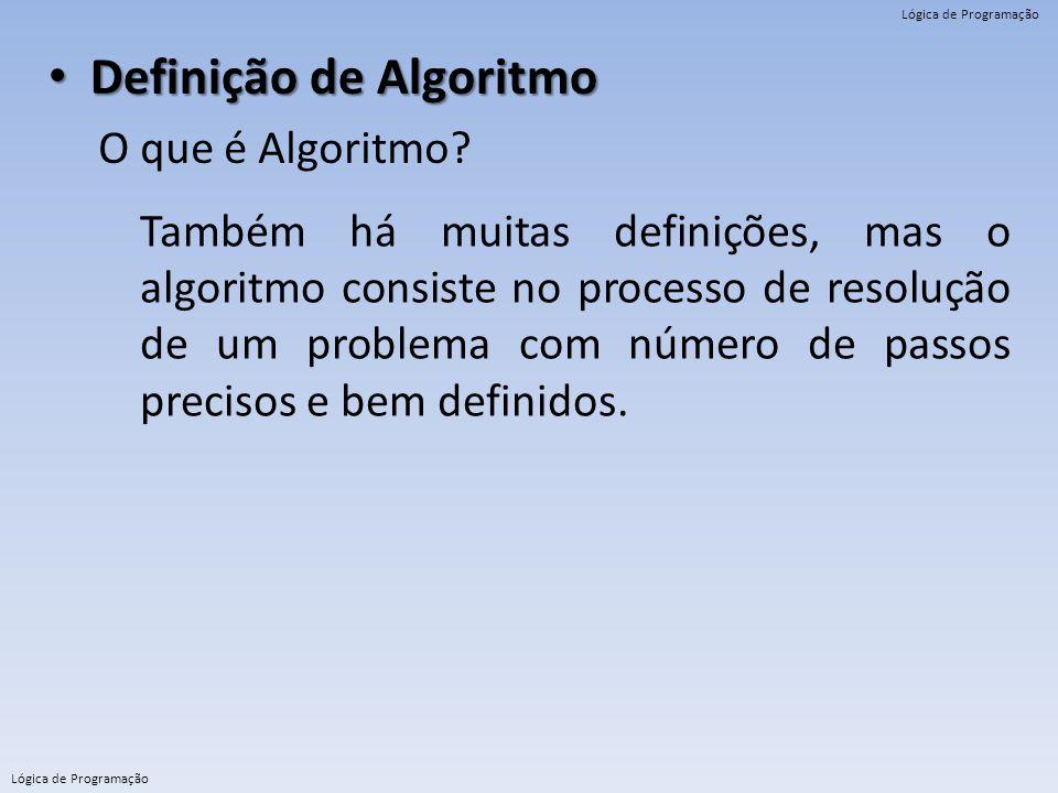 Definição de Algoritmo