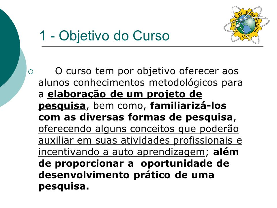 1 - Objetivo do Curso