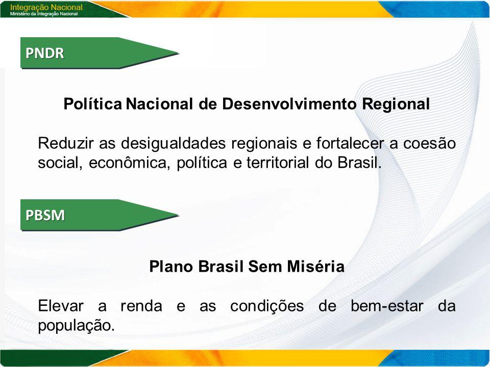 Política Nacional de Desenvolvimento Regional Plano Brasil Sem Miséria