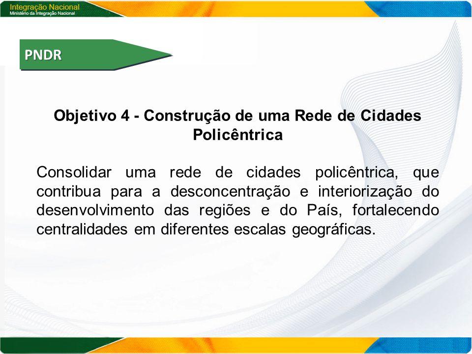 Objetivo 4 - Construção de uma Rede de Cidades Policêntrica