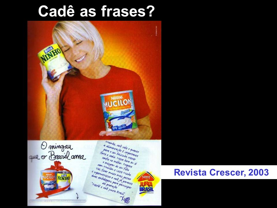 Cadê as frases Revista Crescer, 2003