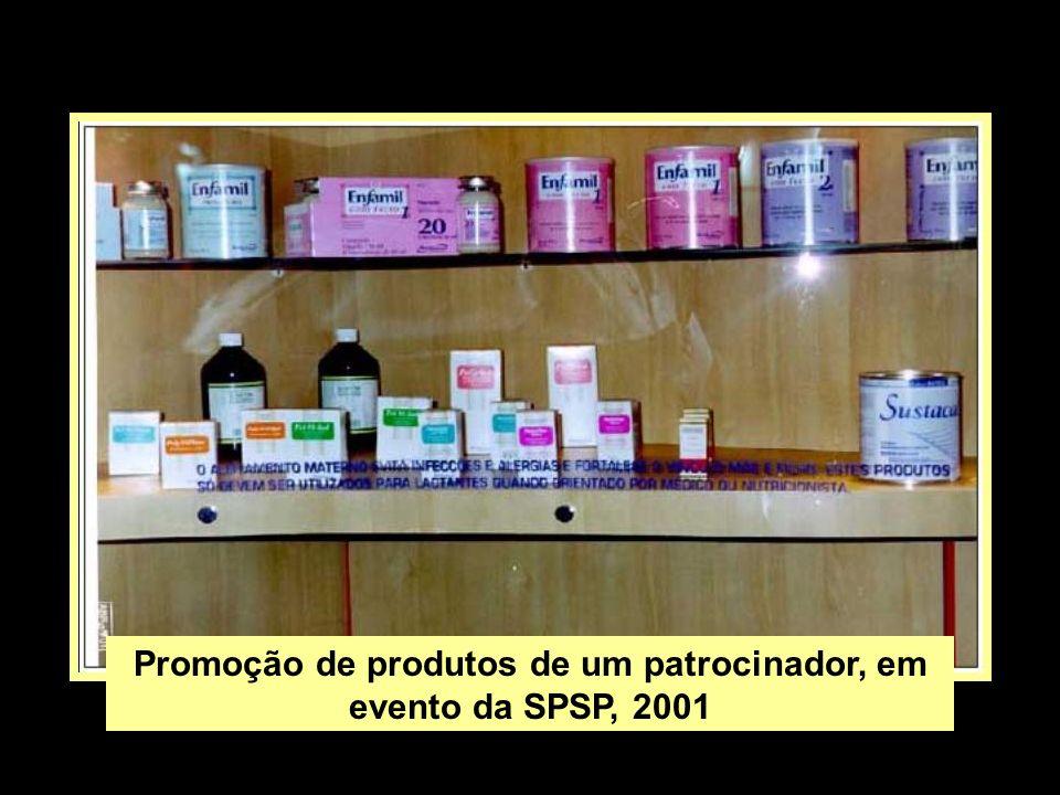 Promoção de produtos de um patrocinador, em evento da SPSP, 2001