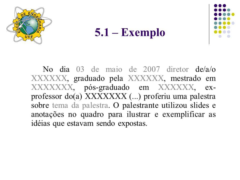 5.1 – Exemplo