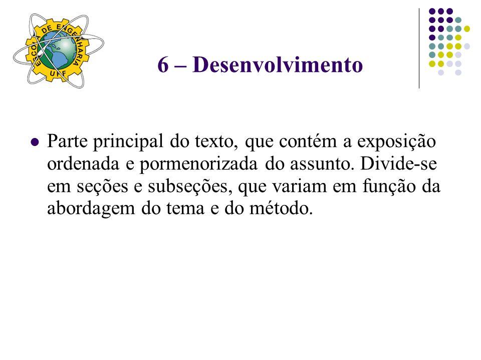 6 – Desenvolvimento