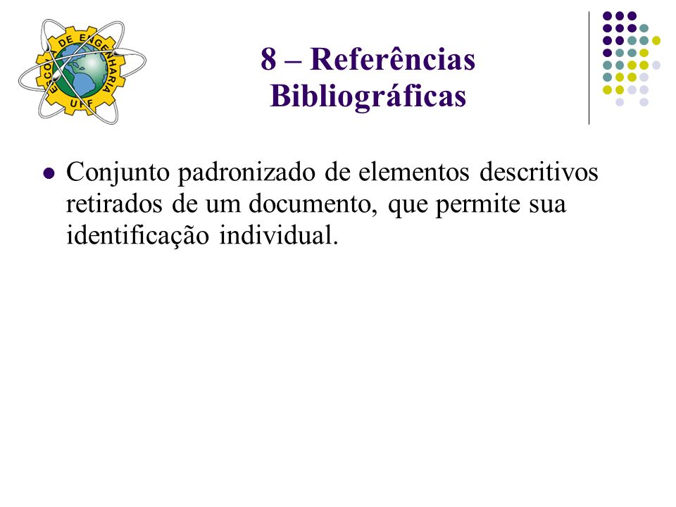 8 – Referências Bibliográficas