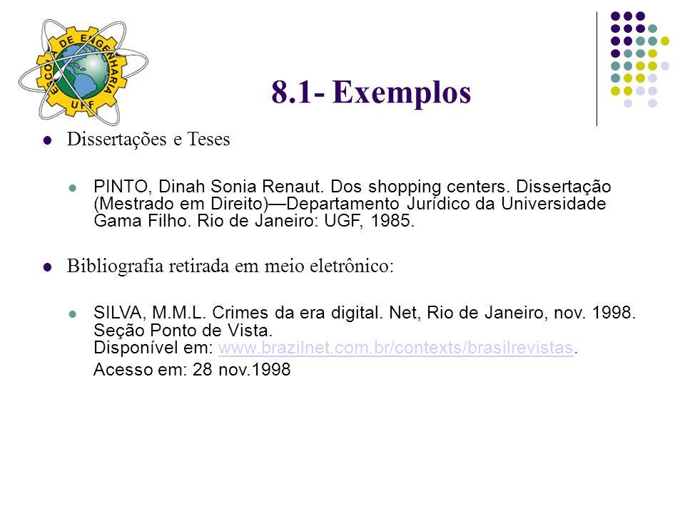 8.1- Exemplos Dissertações e Teses