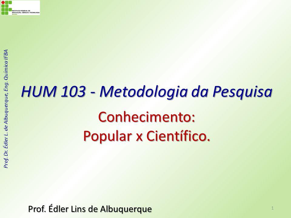 HUM 103 - Metodologia da Pesquisa