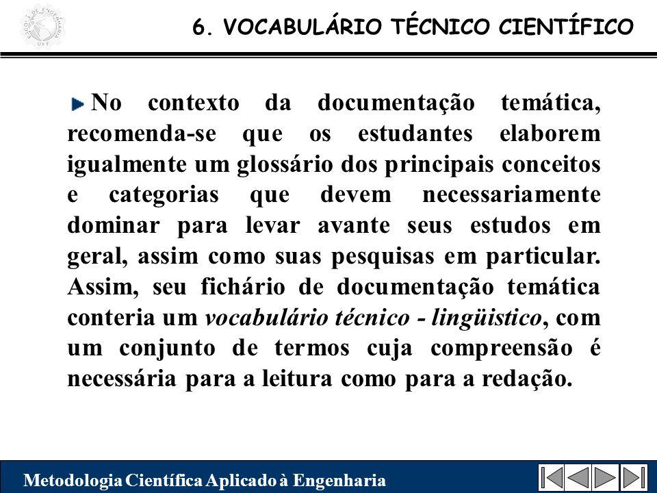 6. VOCABULÁRIO TÉCNICO CIENTÍFICO