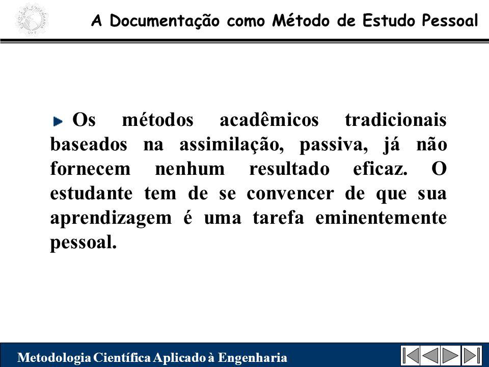 A Documentação como Método de Estudo Pessoal