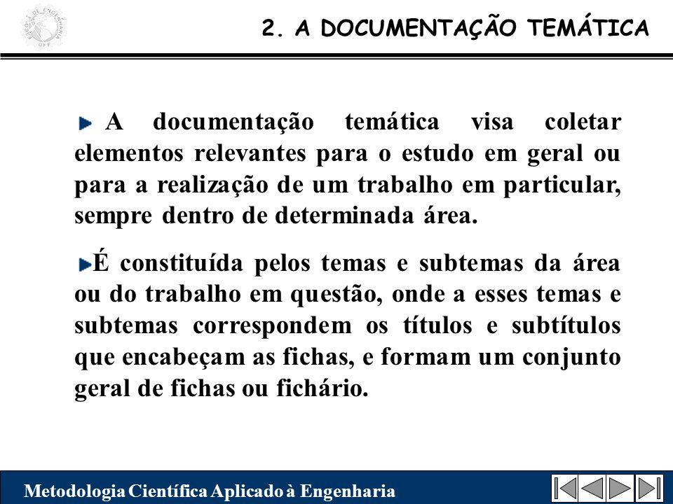 2. A DOCUMENTAÇÃO TEMÁTICA