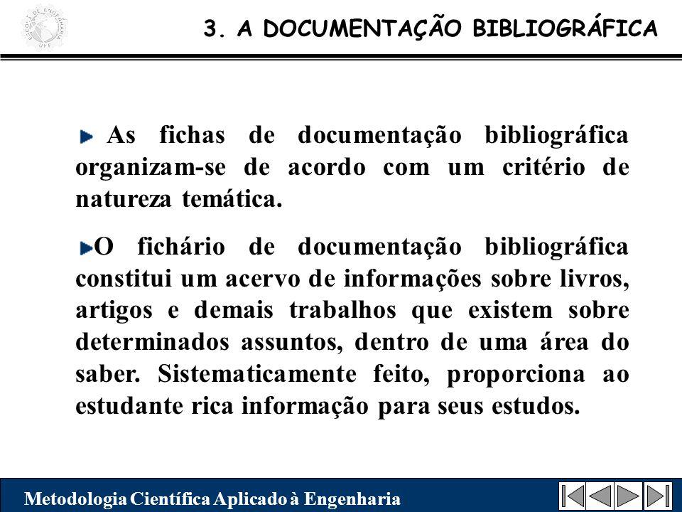 3. A DOCUMENTAÇÃO BIBLIOGRÁFICA