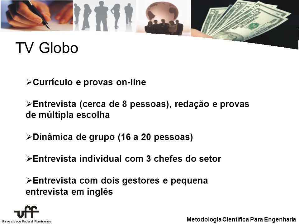 TV Globo Currículo e provas on-line