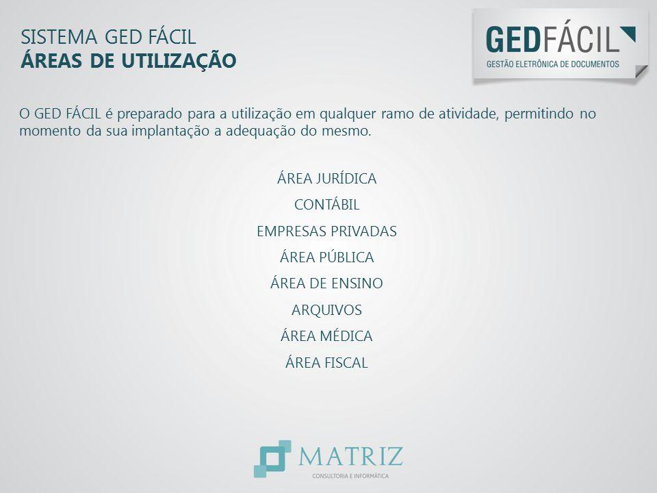 Sistema GED Fácil ÁREAS DE UTILIZAÇÃO