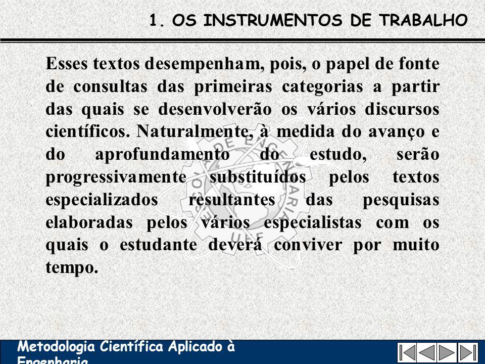 1. OS INSTRUMENTOS DE TRABALHO