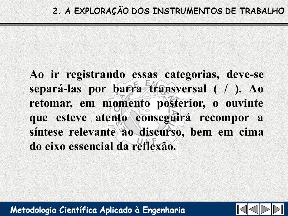 2. A EXPLORAÇÃO DOS INSTRUMENTOS DE TRABALHO