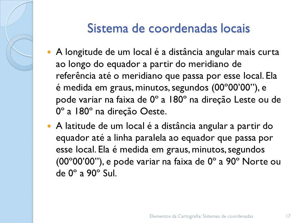 Sistema de coordenadas locais