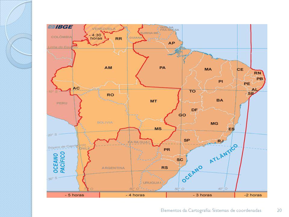 Elementos da Cartografia: Sistemas de coordenadas