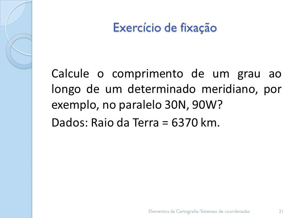 Dados: Raio da Terra = 6370 km.