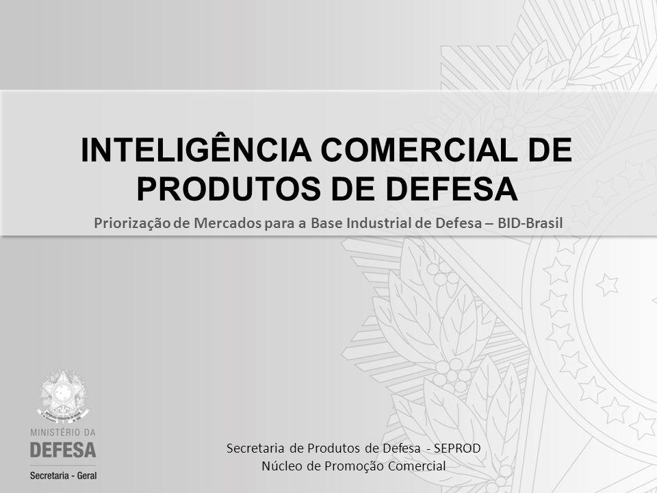 INTELIGÊNCIA COMERCIAL DE PRODUTOS DE DEFESA