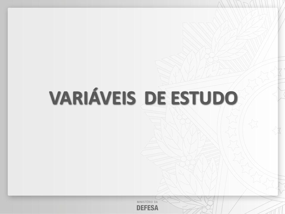 VARIÁVEIS DE ESTUDO