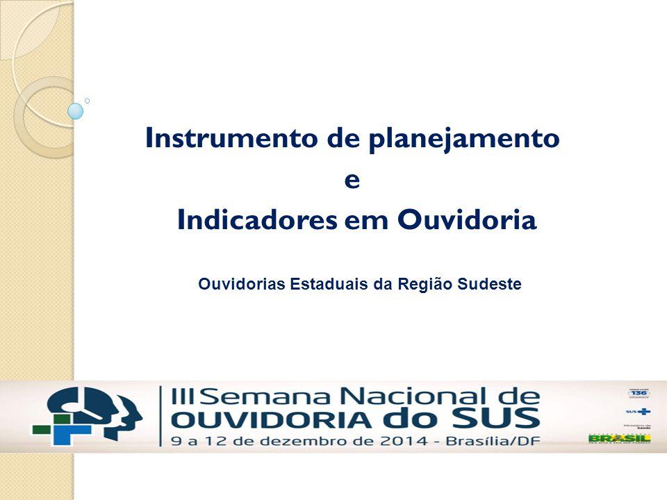 Instrumento de planejamento e Indicadores em Ouvidoria