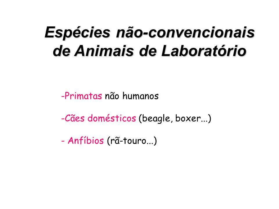 Espécies não-convencionais de Animais de Laboratório