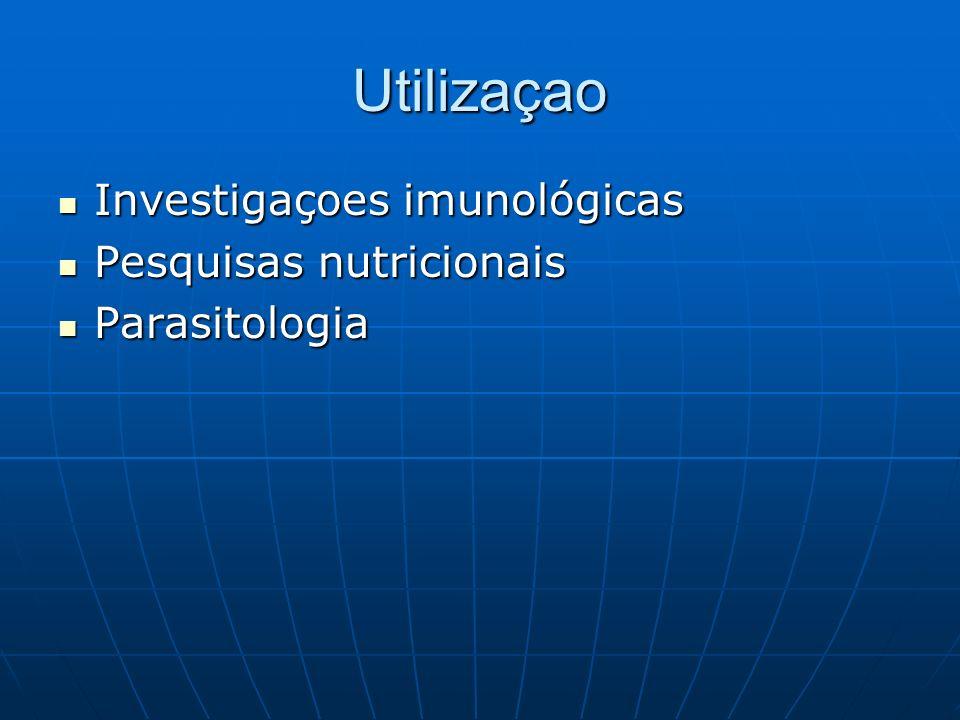 Utilizaçao Investigaçoes imunológicas Pesquisas nutricionais