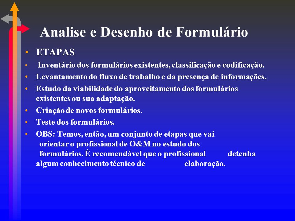 Analise e Desenho de Formulário