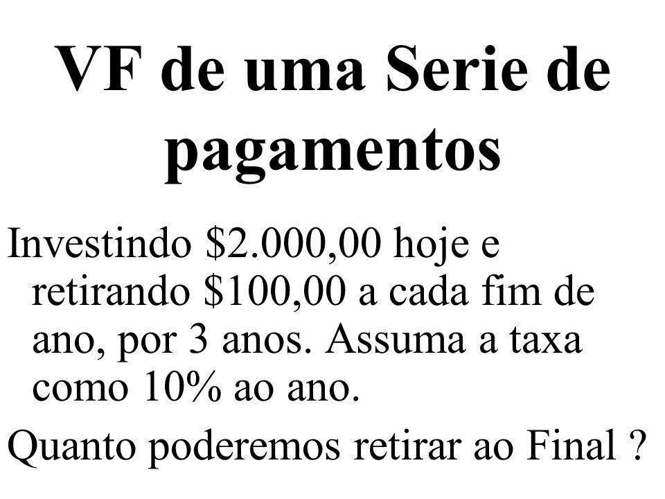 VF de uma Serie de pagamentos