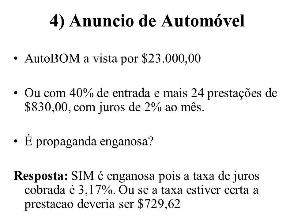 4) Anuncio de Automóvel AutoBOM a vista por $23.000,00