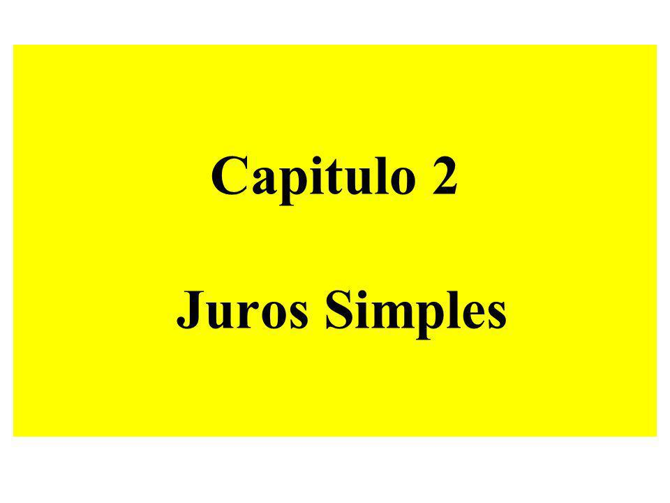Capitulo 2 Juros Simples
