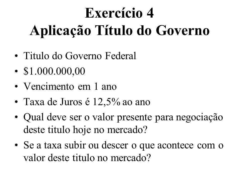 Exercício 4 Aplicação Título do Governo