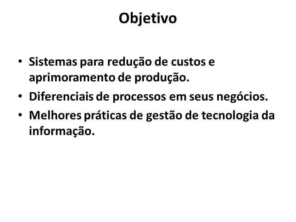 Objetivo Sistemas para redução de custos e aprimoramento de produção.