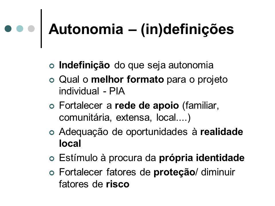 Autonomia – (in)definições