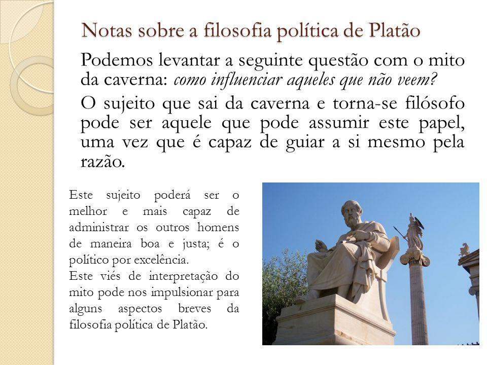 Notas sobre a filosofia política de Platão
