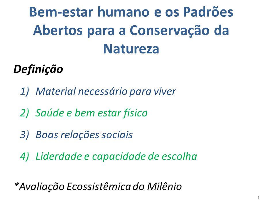 Bem-estar humano e os Padrões Abertos para a Conservação da Natureza